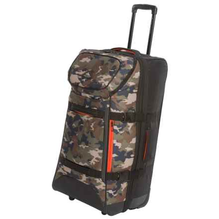 "High Sierra AT Lit Rolling Duffel Bag - 32"", Expandable in Black/Whamo Camo - Closeouts"