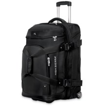 "High Sierra AT3 Rolling Duffel Suitcase - 26"", Expandable in Black - Closeouts"