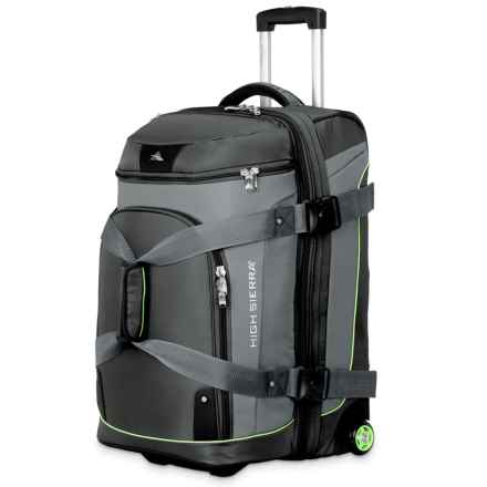 "High Sierra AT3 Rolling Duffel Suitcase - 26"", Expandable in Graphite/Titanium - Closeouts"