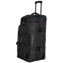 "High Sierra AT3 Rolling Duffel Suitcase - 32"", Drop Bottom in Black - Closeouts"