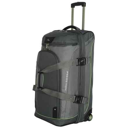 "High Sierra AT3 Rolling Duffel Suitcase - 32"", Drop Bottom in Graphite/Titanium - Closeouts"