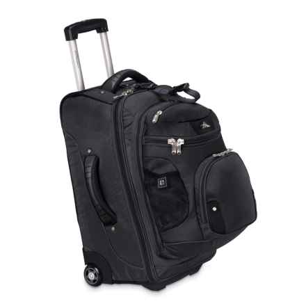 "High Sierra AT3 Rolling Suitcase - 22"", Removable Backpack in Black - Closeouts"