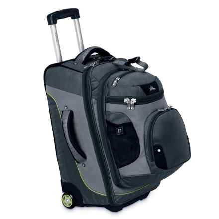 "High Sierra AT3 Rolling Suitcase - 22"", Removable Backpack in Graphite/Titanium - Closeouts"