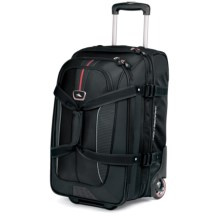 High Sierra AT6 Carry-On Expandable Rolling Duffel Bag in Black - Closeouts