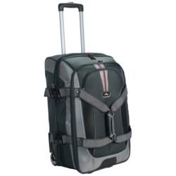 "High Sierra AT6 Expandable Rolling Duffel Bag - 26"", Drop Bottom in Black"