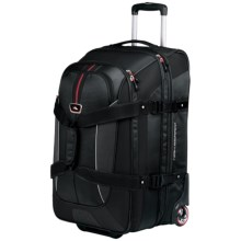 "High Sierra AT6 Expandable Rolling Duffel Bag - 32"", Drop Bottom in Black - Closeouts"