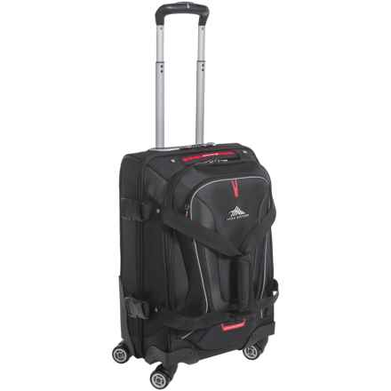 "High Sierra AT7 22"" Carry-On Spinner Duffel Bag in Black - Closeouts"