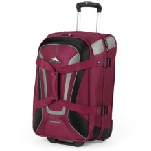 "High Sierra AT7 22"" Rolling Upright Duffel Bag in Boysenberry - Closeouts"