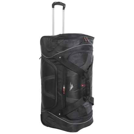 "High Sierra AT7 Rolling Cargo Duffel Bag - 30"" in Black - Closeouts"