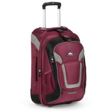 """High Sierra AT7 Rolling Suitcase - 22,"""" Removable Daypack in Boysenberry - Closeouts"""
