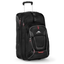 "High Sierra AT7 Rolling Suitcase - 22,"" Removable Daypack in Black - Closeouts"