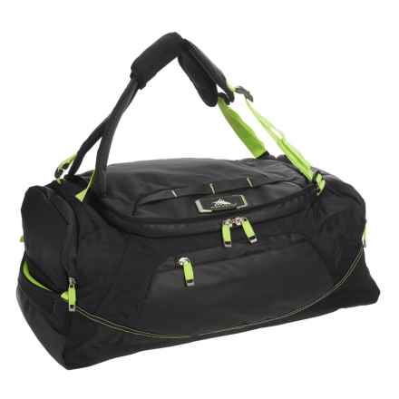 High Sierra AT8 48L Convertible Duffel Backpack in Black/Zest - Closeouts