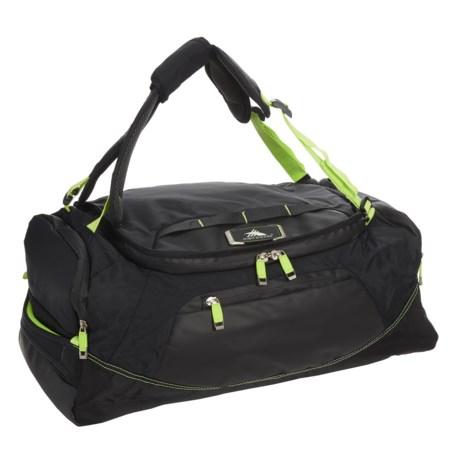 High Sierra AT8 48L Convertible Duffel Backpack in Black/Zest