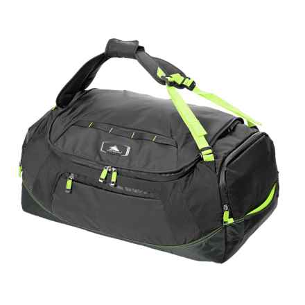 """High Sierra AT8 Convertible Duffel Backpack - 26"""" in Black/Zest - Closeouts"""