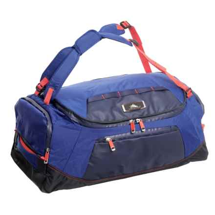 "High Sierra AT8 Convertible Duffel Backpack - 26"" in Sapphire/Red Line - Closeouts"