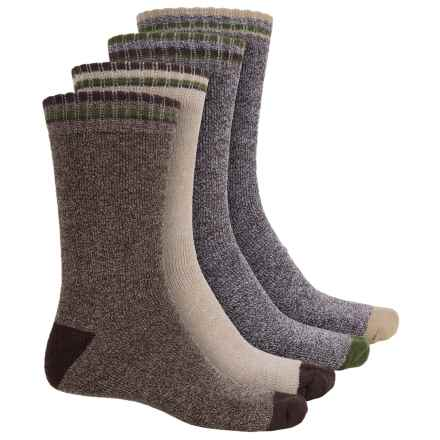 High Sierra Boot Socks - 4-Pack, Crew (For Men) in Moss - Closeouts