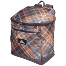 High Sierra Bucket Ski Boot Bag in Diamond Plaid/Charcoal - Closeouts