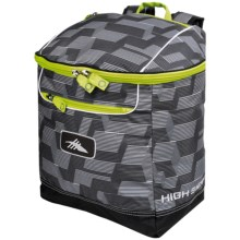 High Sierra Bucket Ski Boot Bag in Grey Line Climb/Black/Charcoal - Closeouts
