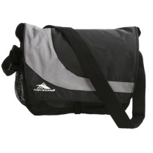High Sierra Chip Laptop Messenger Bag in Black/Charcoal - Closeouts