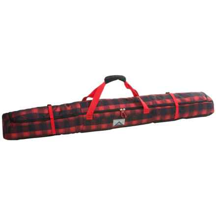 High Sierra Deluxe Single Ski Bag in Buffalo Plaid/Black/Crimson - Closeouts