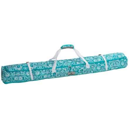 High Sierra Deluxe Single Ski Bag in Teal Shibori/Tropic Teal/White - Closeouts