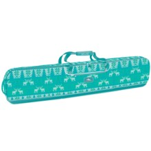 High Sierra Deluxe Snowboard Sleeve in Knitty Pow/Tropical Teal - Closeouts