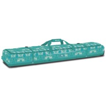 High Sierra Deluxe Wheeled Double Ski Bag in Knitty Pow/Tropical Teal - Closeouts