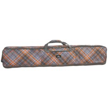 High Sierra Double Coffin-Style Ski-Snowboard Bag - Wheeled in Diamond/Plaid/Charcoal - Closeouts