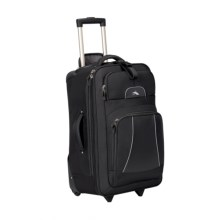 "High Sierra Elevate Wheeled Upright Suitcase - 25"" in Black - Closeouts"
