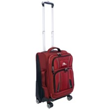 "High Sierra Endeavor Carry-On Expandable Upright Spinner Suitcase - 22"" in Carmine Red/Black - Closeouts"