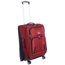 "High Sierra Endeavor Expandable Upright Spinner Suitcase - 25"" in Carmine Red/Black - Closeouts"