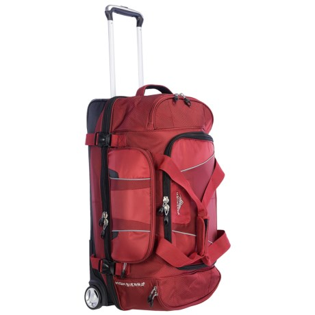 "High Sierra Endeavor Rolling Duffel Bag - 28"", Drop-Bottom in Carmine Red/Black"