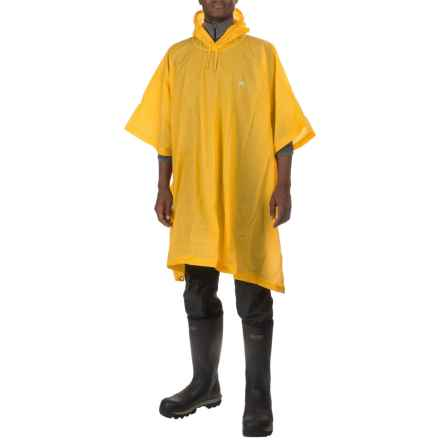 High Sierra EVA Poncho - Waterproof (For Men and Women) in Yellow - Closeouts
