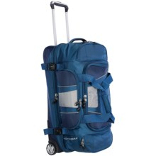 "High Sierra Evolution Rolling Duffel Bag - 34"", Drop Bottom in Pacific/True Blue - Closeouts"