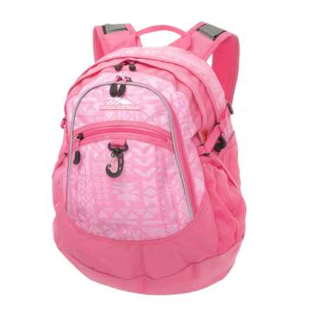 High Sierra Fat Boy 28L Backpack in Block Print/Pink - Closeouts