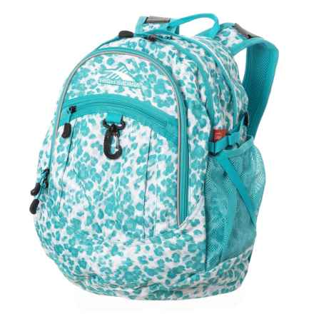 High Sierra Fat Boy 28L Backpack in Tropic Leopard/Tropic Teal - Closeouts