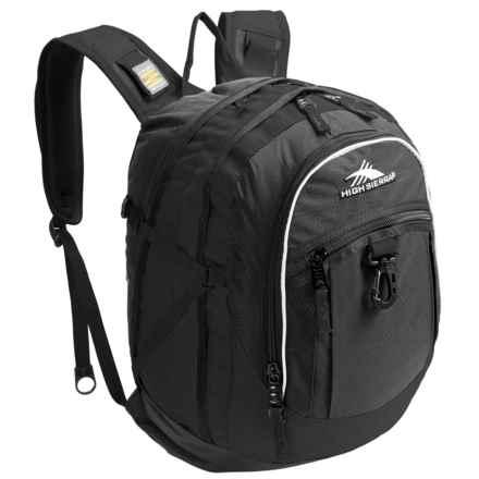 High Sierra Fat Boy Backpack in Black - Closeouts