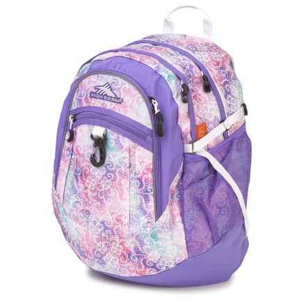 High Sierra Fat Boy Backpack in Delicate Lace/Lavender/White - Closeouts