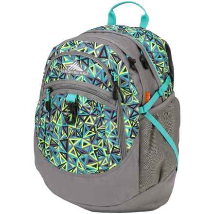 High Sierra Fat Boy Backpack in Electric Geo/Charcoal/Tropic Teal - Closeouts