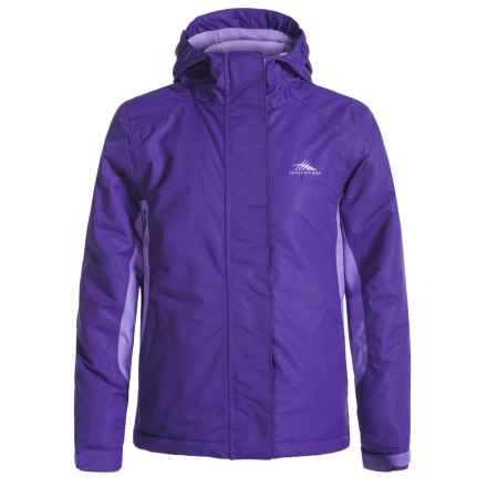 High Sierra Frankie Jacket - Waterproof, Insulated (For Little and Big Girls) in Deep Purple Lavendar - Closeouts