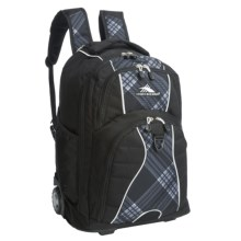 High Sierra Freewheel Carry-On Backpack- Rolling in Black Mad/Diagonal - Closeouts