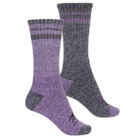 High Sierra Full-Cushion Boot Socks - 2-Pack, Crew (For Women) in Purple - Closeouts