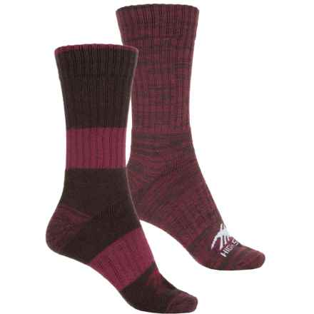 High Sierra Full-Cushion Marled Boot Socks - 2-Pack, Crew (For Women) in Red/Paprika - Closeouts