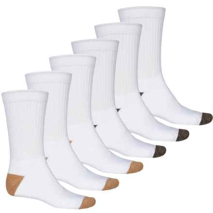 High Sierra Full-Cushion Socks - 6-Pack, Crew (For Men) in Brown/White - Closeouts