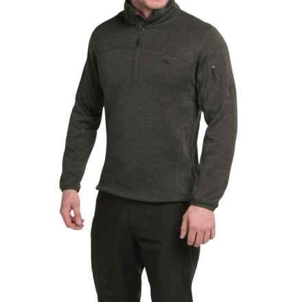 High Sierra Funston Fleece Jacket - Zip Neck (For Men) in Black - Closeouts