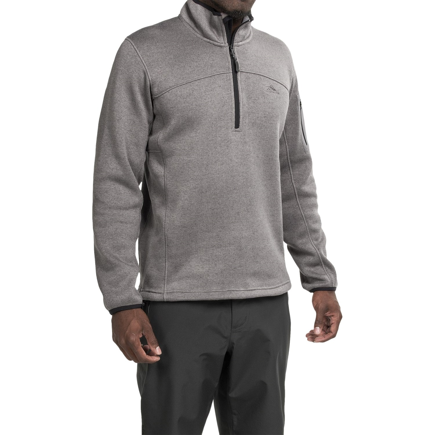 funston men Nuts & bolts lightweight full zip up insulated men's jacket 4-way stretch material for comfort, layering quilted torso with soft knit sides and sleeves.