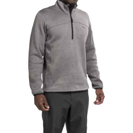 High Sierra Funston Fleece Jacket - Zip Neck (For Men) in Charcoal - Closeouts