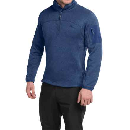 High Sierra Funston Fleece Jacket - Zip Neck (For Men) in True Navy - Closeouts