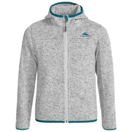 High Sierra Funston Hooded Jacket (For Little and Big Girls) in Ash/Lagoon - Closeouts