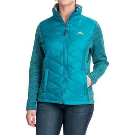 High Sierra Funston Hybrid Jacket - Insulated (For Women) in Sea/Chartreuse - Closeouts